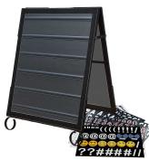 Cohas EZ Change 60cm by 90cm Sidewalk A-Frame Sign includes 60cm by 70cm Message Board Set, Black Frame, Black Boards