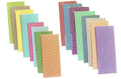 Outside the Box Papers Bulk Rainbow Variety Pack of Chevron Straws 20cm 400 Total in 16 Colours
