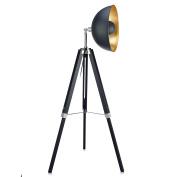 Teamson Design Corp VN-L00019A Versanora Fascino 160cm Metal Retro Studio Tripod Floor Lamp, Black/Gold