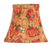 Livex Lighting S313 Bell Clip Chandelier Shade, Pumpkin Harvest Silk