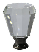 Urbanest Crystal Anne Lamp Finial, Black with Antique Brass, 5.1cm Tall
