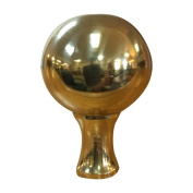 Royal Designs Large Ball Lamp Finial, Polished Brass