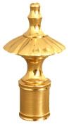 Royal Designs Umbrella Lamp Finials, Polished Brass