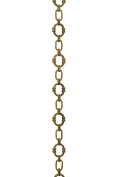 RCH Hardware CH-05-AB Decorative Antique Solid Brass Chain for Hanging, Lighting-Large Round Unwelded Links with X Design