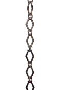 RCH Hardware Decorative Polished Nickel Solid Brass Chain for Hanging, Lighting - Hexagonal Design Unwelded Links