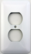 Mulberry Princess Style White One Gang Duplex Outlet Switch Plate