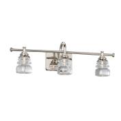 WAC Lighting WS-42524-PN Rondelle LED 3 Light Fixture Bath & Wall Light Fixture, Large, Opal/Polished Nickel
