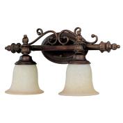 Capital Lighting 1702BB-291 Avery 2-Light Vanity Fixture, Burnished Bronze with Mist Scavo Glass