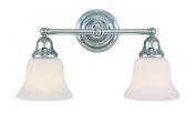 Dolan Designs 492-26 Brockport 2 Light Bathroom Fixture, Chrome