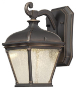 Minka Lavery 72391-143C 1 Light Wall Mount in Oil Rubbed Bronze w/Gold Highlights Finish w/Clear Seeded Glass