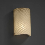 Justice Design Group Lighting FSN5542WEVENCKL FusionCollection Finials Curved Wall Sconce