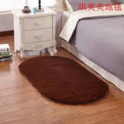 SMYTShop Super Soft Indoor Modern Shag Area Silky Smooth Rugs Fluffy Rugs Anti-Skid Shaggy Area Rug Dining Room Home Bedroom Carpet Floor Mat 30cm By 50cm