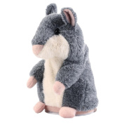 Keepfit Talking Hamster Repeats What You Say Plush Animal Toy Electronic Hamster Mouse for Kids