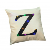 Inverlee Creative Printing Linen New Colour Lights Pillow LED Lights Pillow Christmas Home Decoration