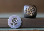 Brand New 8mm Rose Flower Metal Punch Design Stamp - Supply Guy - CH-162