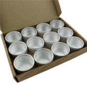 12 Silver Pots Jewellery Storage Box Watch Beads Gem Mixed Container Metal Metal