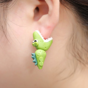 1 Pair Crocodiles Earrings,Handcraft Polymer Clay Cute 3D Animal Fimo Ear Studs by Team-Management