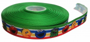Sesame Street Characters 2.5cm Wide Repeat Ribbon Sold in Yard Lots