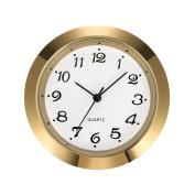 Mudder 1 - 7/ 16 Inch (36 mm) Clock Insert Fit Diameter 1 - 3/ 8 Inch (35 mm) Hole, Gold Bezel, Arabic Numerals