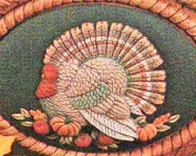 Dona's Thanksgiving Turkey Seasons Insert Ready to Paint Ceramic Bisque - Hand Poured in the USA
