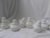 Cracked Pot Pumpkins 13cm set of 6 Ceramic Bisque Ready To Paint
