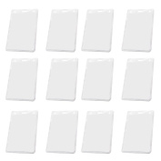 50PCS Vertical Style Transparent Card Badge Holder for ID School Work Document Cards