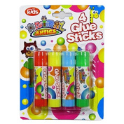 Coloured Children's Glue Sticks – Pack of 4 Colours - Animal Antics