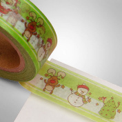 Holiday Themed Washi Tape - 1.4cm . Wide, 10 Yards