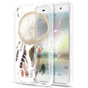 Sony Xperia XA Case,Sony Xperia XA Cover,ikasus Ultra Thin Soft TPU Case,Art Painted Pattern Soft Silicone Rubber Case,Crystal Clear Soft Silicone Back Cover for Sony Xperia XA,Feather Campanula