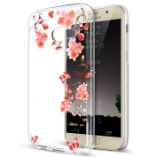 Galaxy J7 Prime Case,Galaxy J7 Prime Cover,ikasus Ultra Thin Soft TPU Case,Ultra Clear Art Panited Soft Silicone Rubber Case,Crystal Clear Soft Silicone Back Cover for Galaxy J7 Prime,Butterfly Flower