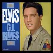 """Elvis Presley """"G.I. Blues"""" Album Cover Framed Print, Multi-Colour, 30cm"""