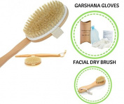 Dry Brush, Face Skin Brush, Garshana Raw Silk Massage Gloves – For Men And Women, Dry Brushing And Dry Skin Massage Therapy, Exfoliating Cellulite Massage By Silk Vitality