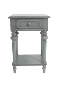 Urbanest Brooks Accent End Table, 70cm Tall, Dark Green
