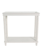 Urbanest Georgia Accent End Table, 70cm Tall, Off White