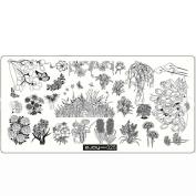 Nail Stamping Plates, Lotus.flower Pattern DIY Nail Art Image Stamp Stamping Plates Manicure Template