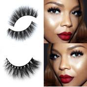 Ecosin Curling Cross False Eyelashes 3D Mink Makeup Eye Lashes Extension Handmade