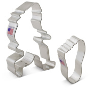 Bigfoot / Sasquatch Cookie Cutter Set - 2 piece - Bigfoot, Foot - Ann Clark - US Tin Plated Steel