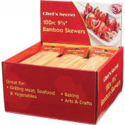 Chef's Secret® 100 Piece Bamboo Skewers - 36 Sets in Counter-top Display