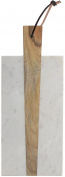 American Atelier Marble and Wood Rectangular Cutting Board, 38cm x 15cm