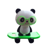 Solar Powered Dancing Figures, Transer Solar Powered Dancing Panda Swinging Animated Bobble Dancer Toy Car Decor