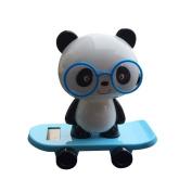 Solar Powered Dancing Figures, Transer Solar Powered Dancing Panda Swinging Animated Bobble Dancer Toy Car Decor
