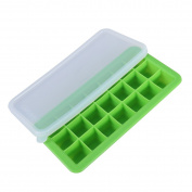 UEETEK 21-Grid Silicone Ice Cube Trays with Lids Creative Food-Grade Silicone Mould for Bars Kitchens Beverage Liquid