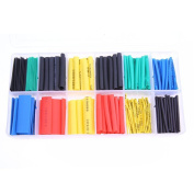 Heat Shrink Tubing, 280pcs 2:1 Heat Shrink Tubing Tube Sleeving Tube Assortment Sleeving Wrap Wire 5 Colour 8 Size by TTnight