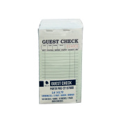 Guest Cheque PKG-CT-G7000 2 Part Carbonless, Perforated, Green, 8.6cm x 17cm Qty