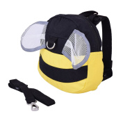 Klsyanyo for Bee Style Baby Toddler Walking Safety Harness with Rein Belt Backpack Bag Rucksack for School Travelling Shopping