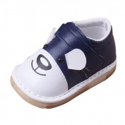 Honhui Infant Baby Boys Girls Cute Cartoon Leather Buckle Single Shoes Casual Flats Shoes (18