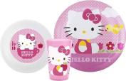 HELLO KITTY (ZAK) Mealtime Set BPA Free (3 PC) PINK