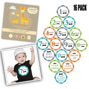 Baby Monthly Stickers First Year Baby Great Shower Gift Milestone Belly stickers for Boys Girls