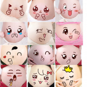 Creation Core Funny Facial Expressions Stickers Pregnancy Baby Bump Belly Stickers Maternity Pregnant Woman Photography Props