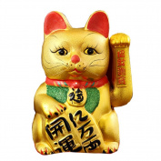 33cm Waving Lucky Fortune Cat Maneki Neko Japanese Porcelain Lucky Cat Money Box Piggy Bank